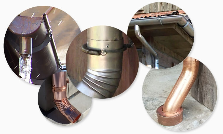 6-inch half-round vintage rusted and copper gutters are our specialty!