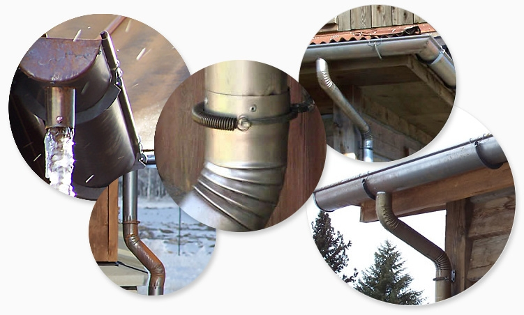 6-inch half-round vintage rusted gutter is our specialty!